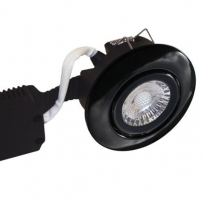 LED spot udendørs 6W 2700K 35° 33mm - Børstet, sort