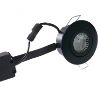 LED spot m. 6W 35° - rund sort 33m Type: 3509
