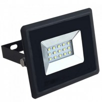 10W LED projektør 6500K 850Lm sort