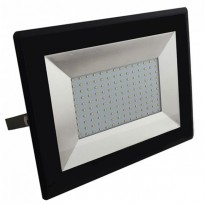 100W LED projektør 3000K 8500Lm sort