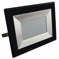 100W LED projektør 4000K 8500Lm sort