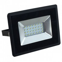 20W LED projektør 3000K 1700Lm sort
